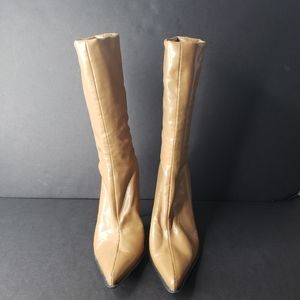 """Davos Gomma Pull-On Leather Boots 4"""" Heel"""